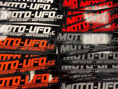 Samolepka logo MOTO-UFO 150x30mm - 1kus
