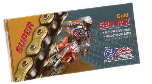 ČZ řetěz 520 MX zlatý 120čl. netěsněný/ bezkroužkový